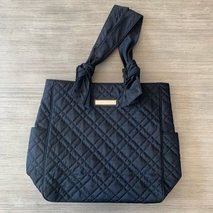Calvin Klein Black Quilted Tote